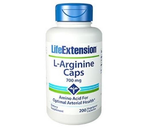 L-Arginina 700 mg 200 Cápsulas LIFEEXTENSION