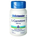 L-Carnitina 500mg. L-Carnitine Tartrate 30 cápsulas LIFEEXTENSION en Herbonatura.es