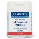 L-Teanina 200 mg Theanine Calmante, Relajante 60 comprimidos LAMBERTS en Herbonatura.es