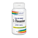 L-Theanine, Teanina 200mg. Sabor natural de limón, 30 comprimidos masticables SOLARAY