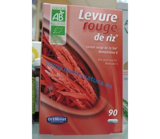 Levadura de Arroz Rojo Biológico Red Yeast Rice Bio 90 cápsulas ORTHONAT