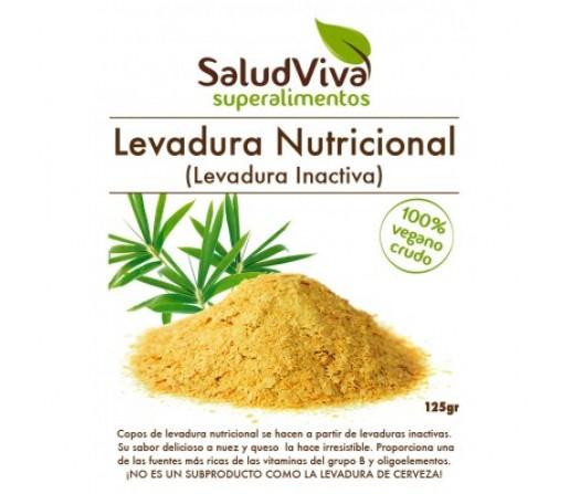 Levadura Nutricional Inactiva Seca en Copos 125gr. SALUD VIVA