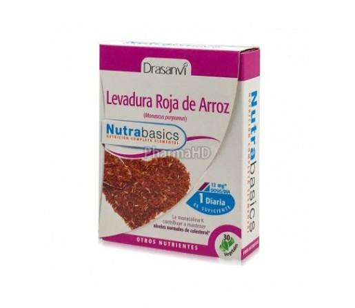 Levadura roja de arroz, sin citrina Nutrabasics 30 cápsulas DRASANVI