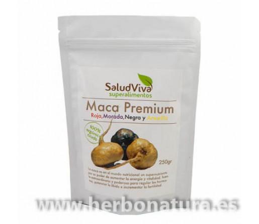 Maca Premium Roja, Morada Negra y Amarilla Superalimento 200gr. SALUD VIVA