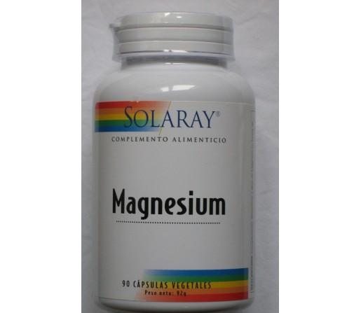 Magnesio (Quelado citrato de magnesio) 90 cápsulas vegetales SOLARAY