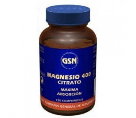 Magnesio Citrato 400mg. Máxima Absorción 120 comprimidos GSN