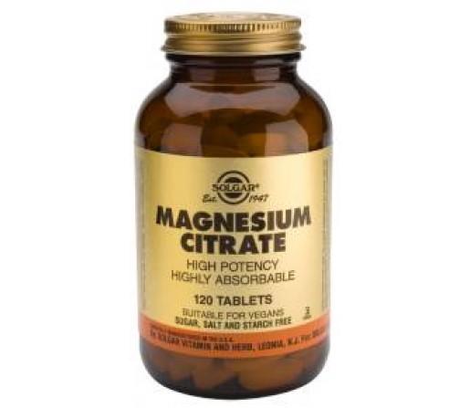 Magnesio Citrato, Magnesium Citrate 60 comprimidos SOLGAR