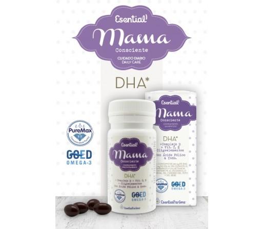 DHA Mama con complejo B, Vitamina C, Oligoelementos... 30 perlas ESENTIAL AROMS