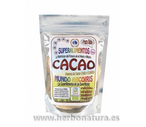 Manteca de Cacao Cruda y Ecológica de Perú 250gr. MUNDO ARCOIRIS