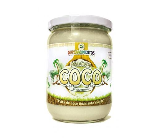 Manteca de Coco Crudivegana Ecológica 500ml. Superalimentos MUNDO ARCOIRIS