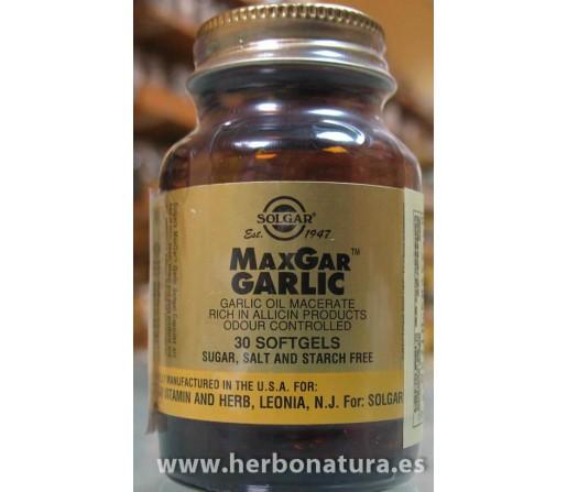 Ajo MaxGar (ajo macerado en aceite) 30 perlas SOLGAR