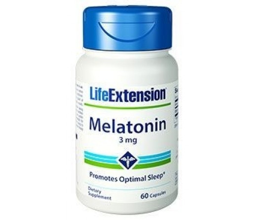 Melatonin 3mg. Melatonina 60 cápsulas LIFE EXTENSION
