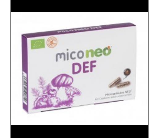 Mico Neo DEF, Uña de Gato, Maitake, Champiñón del Sol, Reishi, Cordyceps... 60 cápsulas NEO