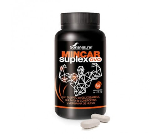 Mincar Suplex OVO, Glucosamina, Condroitina, Colágeno, Hialurónico... 84 comprimidos SORIA NATURAL