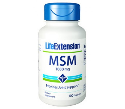 MSM Methyl Sulfonyl Methane 1000mg. 100 comprimidos LIFE EXTENSION