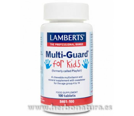 Multi-Guard for Kids Multinutriente para niños 100 comprimidos LAMBERTS