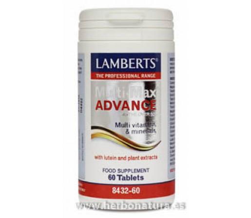 Multi-Max Advance multinutriente para mayores de 50 años Luteina 60 comprimidos LAMBERTS