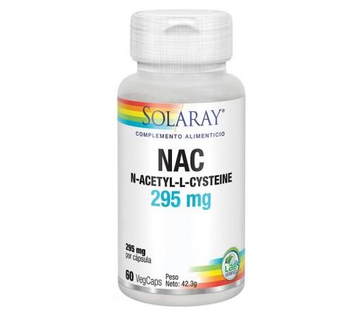 NAC N-acetil-l-cisteina Precuror del Glutation 60 cápsulas vegetales SOLARAY