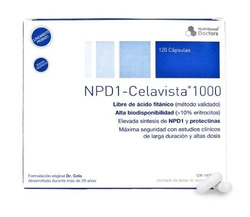 NPD1 DHA 1000mg.Libre de Acido Fitánico 120 cápsulas blandas CELAVISTA