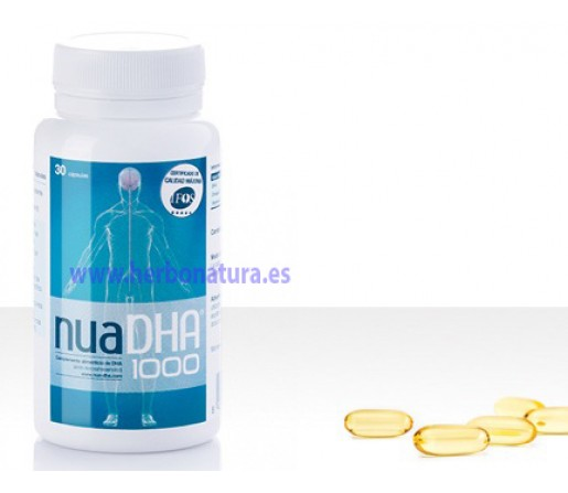 Nua DHA 1000 Omega 3. 132 perlas NUA