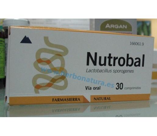 Nutrobal, Lactobacillus Sporegenes Probiótico 30 comprimidos FARMASIERRA NATURAL