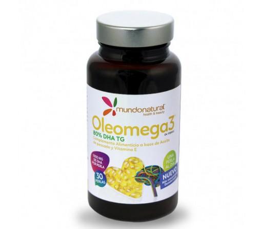 Oleomega 3, Omega 3 1000mg. en forma de triglicéridos 30 perlas MUNDONATURAL
