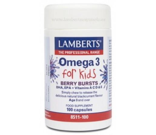 Omega 3 for Kids DHA y EPA niños 100  capsulas LAMBERTS