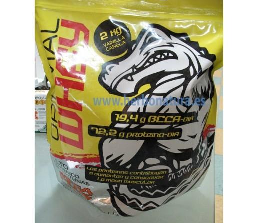 Optimal Whey Proteina con BCAA Vainilla 2kg. MEGA PLUS