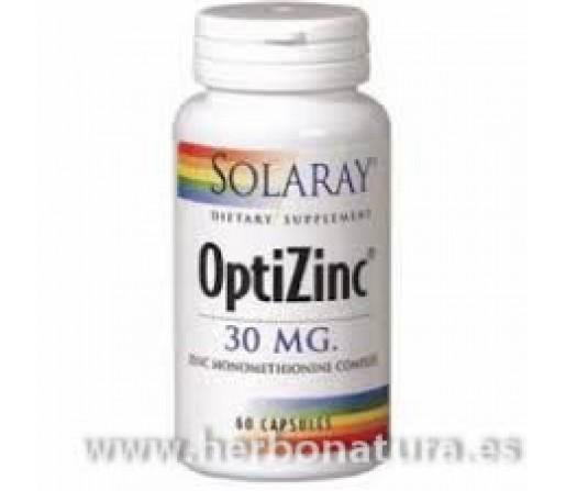 Optizinc Zinc y B6 60 cápsulas SOLARAY