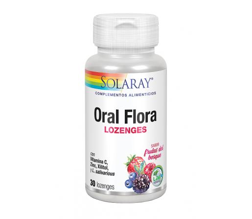 Oral Flora Salivarius y Coagulans 30 comprimidos sabor frutos del bosque SOLARAY