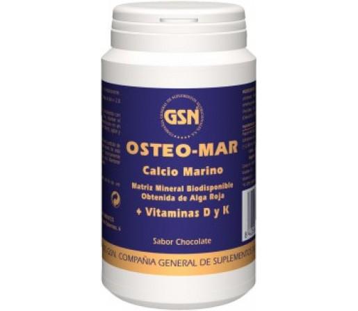 Osteo-Mar Chocolate Lithothamnion calcareum, K1 y D3, 169gr. GSN