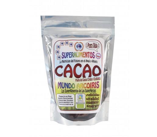 Pasta de Cacao Cruda y Ecológica Magnesio, Felicidad y Vitalidad 250gr. SUPERALIMENTOS