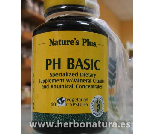 PH Basic (Alcalinizante) 60 cápsulas NATURE`S PLUS