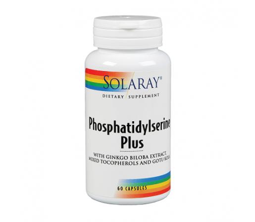 Phosphatidylserine Plus con Ginkgo, Gotu Kola... 60 cápsulas SOLARAY