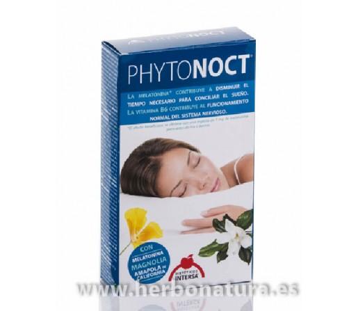 Phytonoct con melatonina, bienestar nocturno 28 cápsulas INTERSA