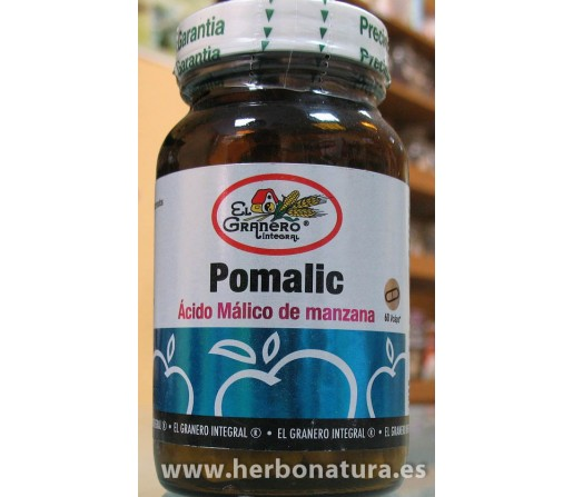 Pomalic, Acido Malico de Manzana 60 cápsulas EL GRANERO INTEGRAL