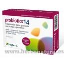 Probiotics 14 probiótico ultima generación 14 cepas + Prebióticos 24 cápsulas HERBORA