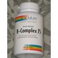 Vitamina B-Complex 75 100 cápsulas Liberación sostenida SOLARAY