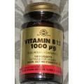 Vitamina B12 1000 μg (Cianocobalamina) 100 Comprimidos masticables SOLGAR
