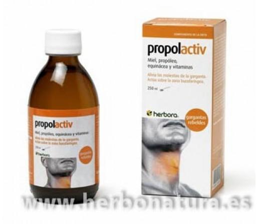 Propolactiv jarabe Cuida tu garganta Miel, Propóleo, equinácea, vitaminas... 250ml. HERBORA