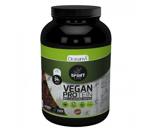 Proteina Vegetal Vegana Sport Live sabor brownie de chocolate 600gr. DRASANVI