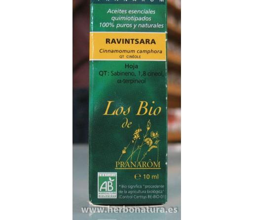 Aceite Esencial Ravintsara (Alcanfor) Ecológico (Cinnamomum camphora QT cinéole) 10ml. PRANAROM