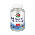Red Yeast Rice, Coenzima Q10 y Omega 3, 60 perlas Solaray KAL