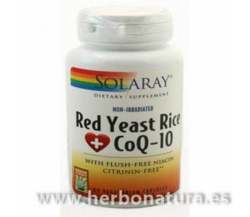 Red Yeast Rice Plus CoQ10 60 cápsulas vegetales SOLARAY