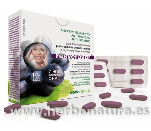 Resverasor + Resveratrol Antioxidante 28 cápsulas SORIA NATURAL