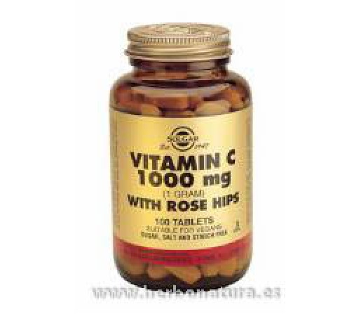 Rose Hips C, Vitamina C con escaramujo 1000 mg 250 Comprimidos SOLGAR