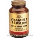 Rose Hips C Vitamina C con escaramujo 1500 mg 90 Comprimidos SOLGAR en Herbonatura.es