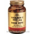 Rose Hips C, Vitamina C con escaramujo 500 mg 100Comprimidos SOLGAR