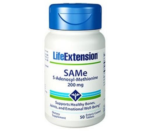 SAMe S-Adenosil-L-Metionina 200mg. 50 comprimidos LIFEEXTENSION
