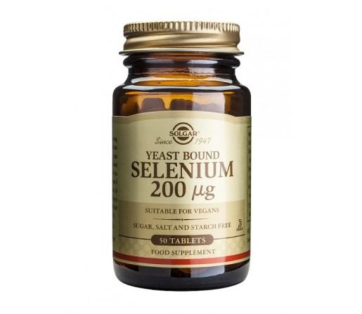 Selenio Selenium 200mcg. L-Seleniometionina Sin Levadura 50 comprimidos SOLGAR